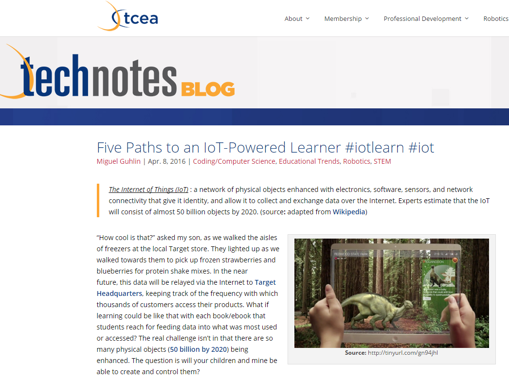 Tcea around the corner page 3 five paths to an iot powered learner iotlearn iot fandeluxe Image collections